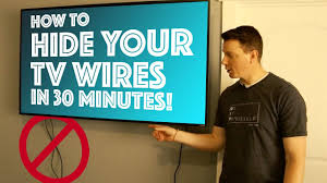 How To Cover Wires How To Hide Your Tv Wires In 30 Minutes Diy Youtube