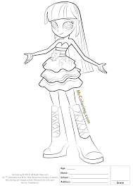 Twilight Sparkle Equestria Girls Coloring Pages Coloring My Little