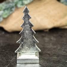 Skulptur Weihnachtsbaum Metall Nickel Beschichtet