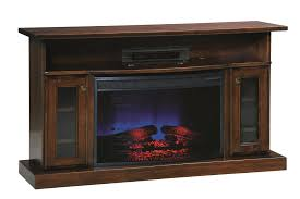 amish 49 electric fireplace tv stand