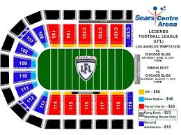 Sears Centre All In Seating Chart Los Angeles Temptation Vs Chicago Bliss