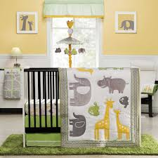 Nursery Beddings Grey And Yellow And Blue Bedding In Conjunction