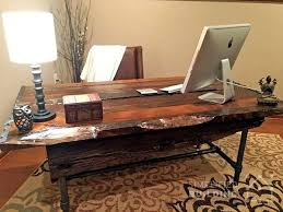 build your own office desk. diy rustic desk plans to build your own reclaimed office k