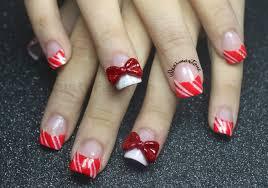 Candy cane bling nails - LustyFashion