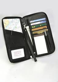 real travel organizer genuine leather passport holder
