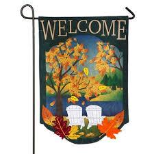 fall garden flags. Fall Adirondack Burlap Garden Flag Flags C