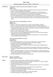 Management Analyst Resume Example Financial Management Analyst Resume Samples Velvet Jobs 8