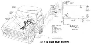 ford truck technical drawings and schematics section h wiring 1967 f 100 series overdrive 1968 wiring schematics