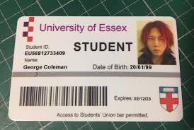 Novelty Id Card Prank Prop Personalised Student Fake Ebay
