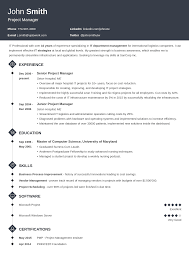 Professional Resume Template Itofile Examples Best Hr Templates