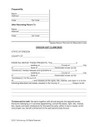 Claim Form In Word Free Oregon Quit Claim Deed Form PDF Word EForms Free 16