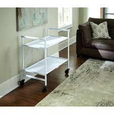 white metal furniture. Cosco Smartfold White Serving Cart Metal Furniture