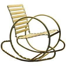 american 1930s streamlined art deco steel rocking chair