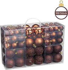 Woma Christbaumkugeln Set In 10 Weihnachtlichen Farben 50 100 Weihnachtskugeln Kupfer Aus Kunststoff Gold Silber Rot Bronzekupfer