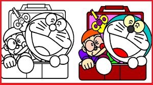All of it in this site is free, so you can print them as many as you like. Doraemon Coloring Pages Doraemon Colouring Book Colors Videos For Kids Art Coloring Games Youtube