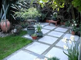 concrete slab patio. Shrubs For Patio Border Small Concrete Backyard Ideas Slab Makeover P