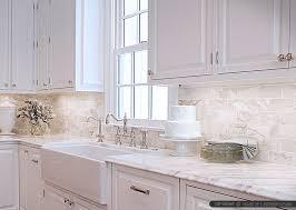 marble tile backsplash cabinet