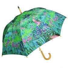 monet garden umbrella with auto open feature