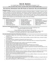 Appraiser Sample Resumes Magnificent Insurance Analyst Resume Insurance Appraiser Resume Example