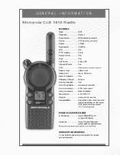 Motorola 1410 Cls Uhf Manual