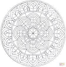 Disegno Di Mandala Con Cerchi Da Colorare Disegni Da Colorare E Con