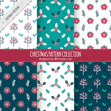 Different Types Of Patterns Best Decorative Christmas Patterns With Different Types Of Flowers Vector