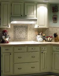 Beautiful Tiles For Kitchen Kitchen Vintage Green Kitchen Cabinet With Mosaic Tiles Kitchen