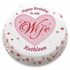 Birthday Cakes Personalised Gifts For Your Wife Bakerdays