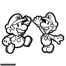 Small Picture Super Mario Bros Coloring Pages Elioleracom