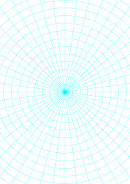 Polar Graph Paper With 7 5 Degree Angles And 1 2 Inch Radials On