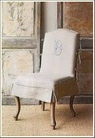 option for slipcover vertical side ties on chair back and heavily embrored monogram little slipcover chairdining room chair slipcovers