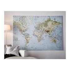 ikea world map canvas photo wall ikea map