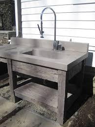 Concrete Sink Diy Reclaimed Wood Vanity Base And Concrete Bathroom Sink By Trueform