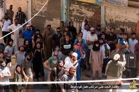 watch video horrific moment the islamic state kills four gay men execution the medieval style execution was watched by hundred
