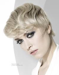 1930s Hair Style short haircut with a false wave effect reminiscent of the 1930s 8791 by wearticles.com