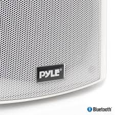 pyle pdwr61btwt wall mount waterproof bluetooth 6 5 indoor outdoor speaker system white