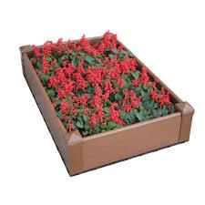 composite lumber patio raised garden bed kit in
