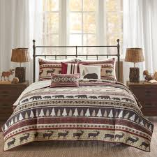 image is loading red animal king cal king coverlet set lodge