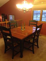 finished refinished broyhill fontana dining room set i still have to finish the buffet and hutch although i may not use the hutch not decided yet