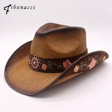 <b>Fibonacci</b> 2018 New <b>Top Quality Fashion</b> Women Cowboy Hat ...