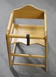 restaurant style wooden high chair. Natural Wood High Chair- Restaurant Style Wooden Chair
