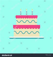 Flat Birthday Cake Designs Cake Flat Design Stock Vector Royalty Free 1168346971