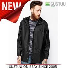 rains mens premium black waterproof anorak jacket xs s new