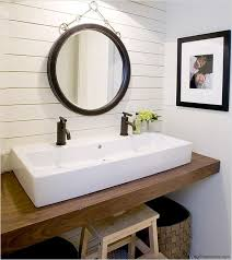 5 foot double sink vanity. no room for a double sink vanity? try trough style with two faucets 5 foot vanity