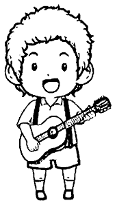 Small Picture Playing The Guitar Coloring Pages Wecoloringpage