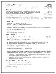 Cover Letter Resume For Internship Template Resume Template For