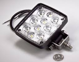 switch snowblower lights to leds arboristsite com wl cwhp10 heavy duty high powered led spot light