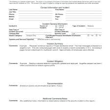 Security Guard Incident Report Template Officer Samples Office
