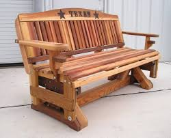 furniture hardwood porch glider bench from texas old porch gliders