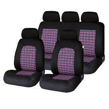 auto choice direct seat covers 9pc check seat cover set car accessories uk